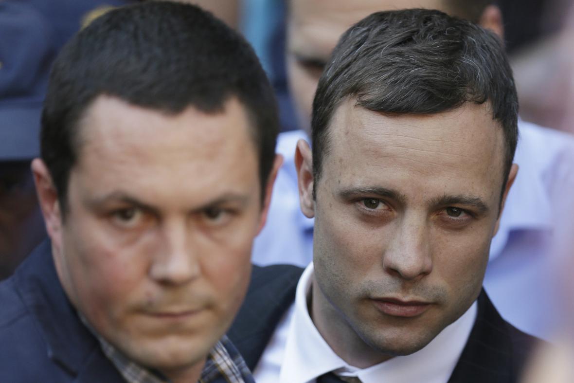 Oscar Pistorius při čtení rozsudku