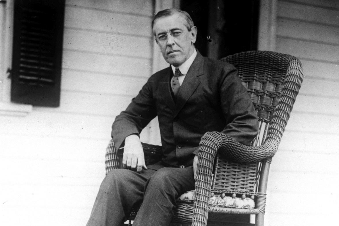 Woodrow Wilson byl prezidentem USA v letech 1913-1921