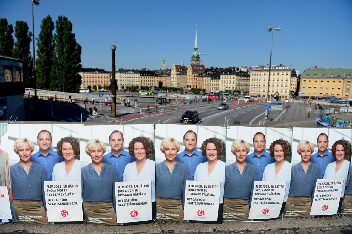 Volební kampaň ve Švédsku