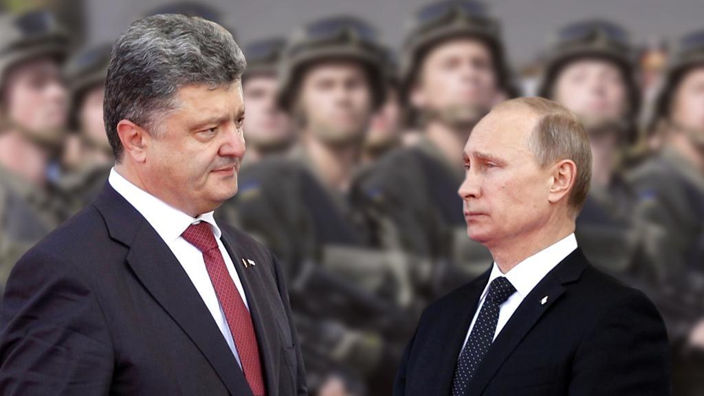 Petro Porošenko a Vladimir Putin