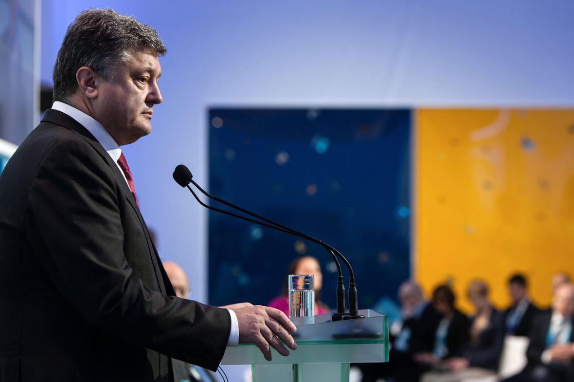 Petro Porošenko na konferenci Jaltské evropské strategie