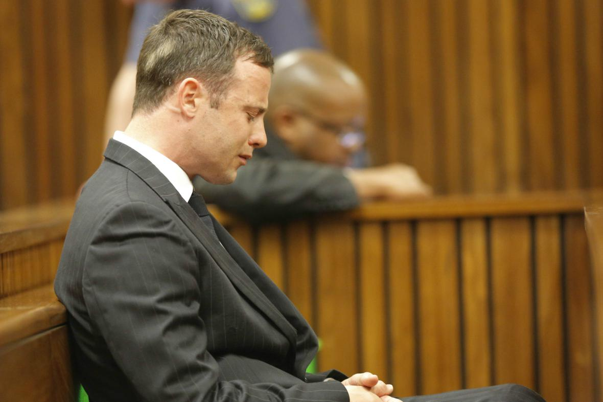 Oscar Pistorius při vynesení rozsudku