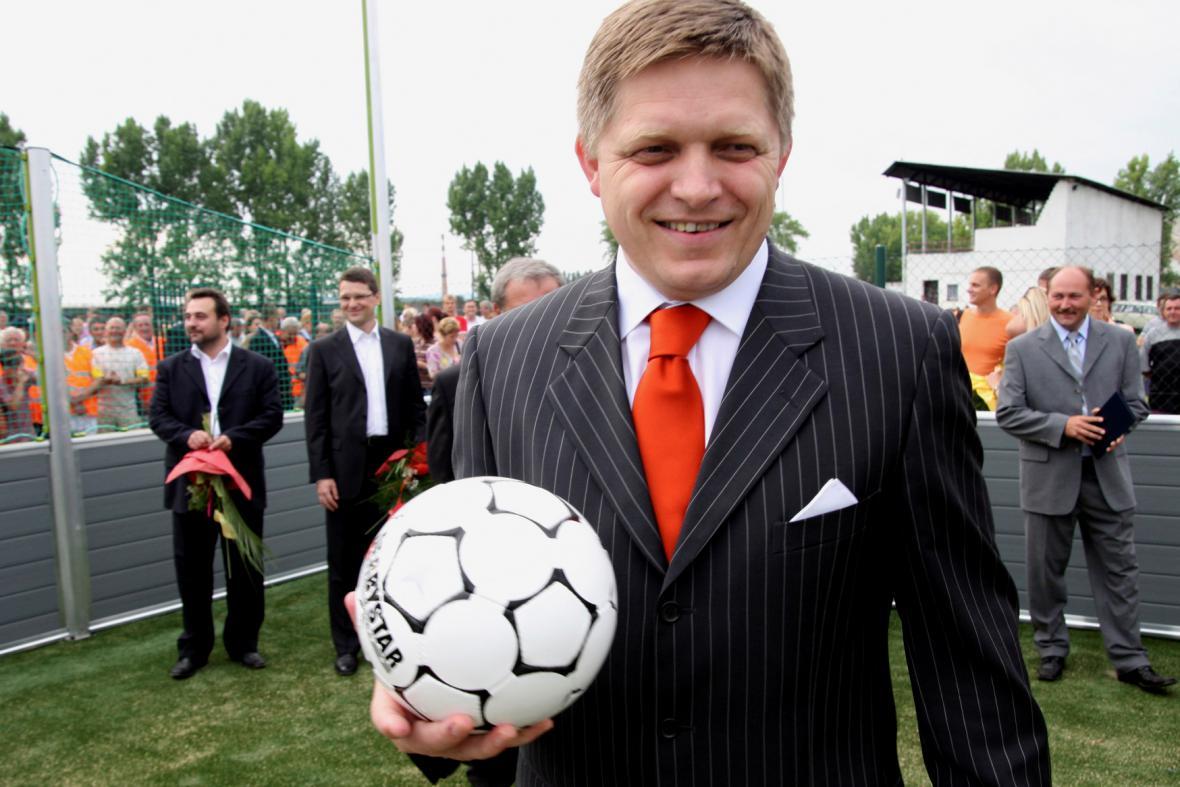 Slovenský premiér je fotbalovým nadšencem