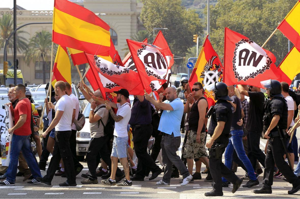 Demonstrace při příležitosti národního dne Katalánska