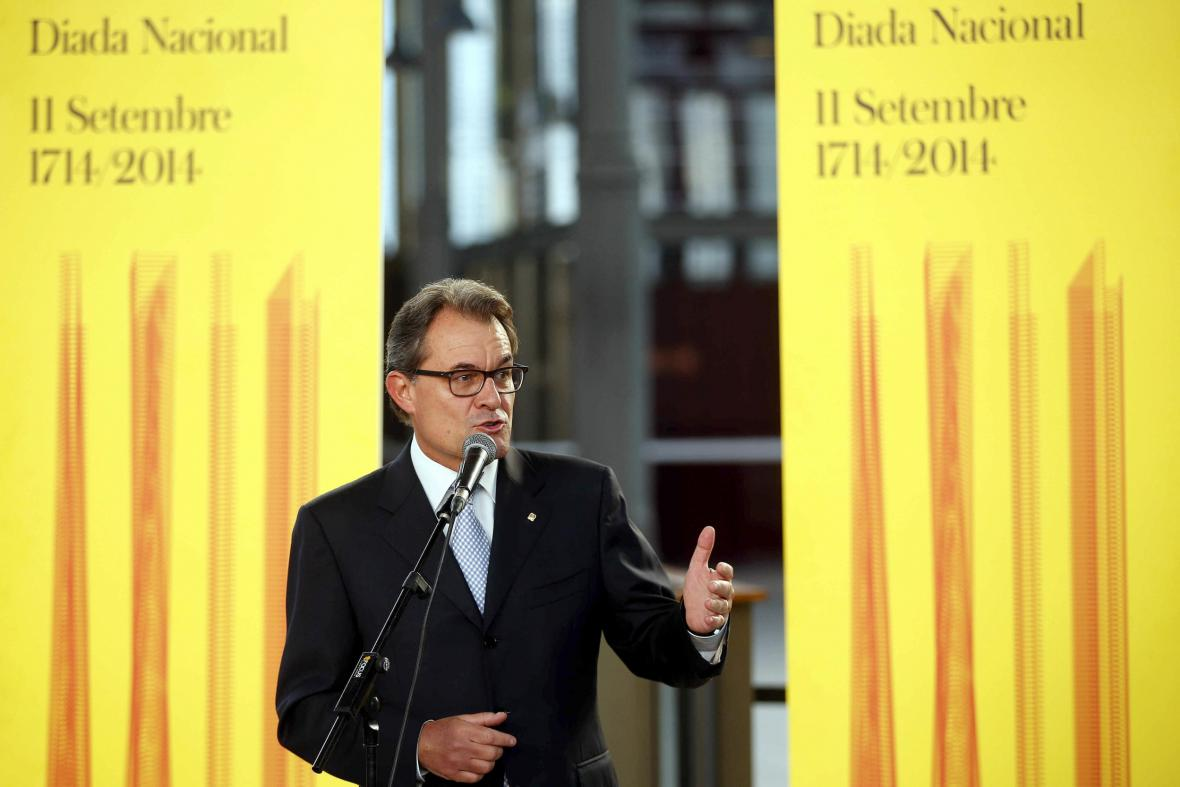 Katalánský premiér Artur Mas