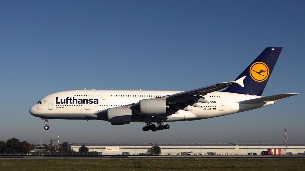 Airbus 380 společnosti Lufthansa