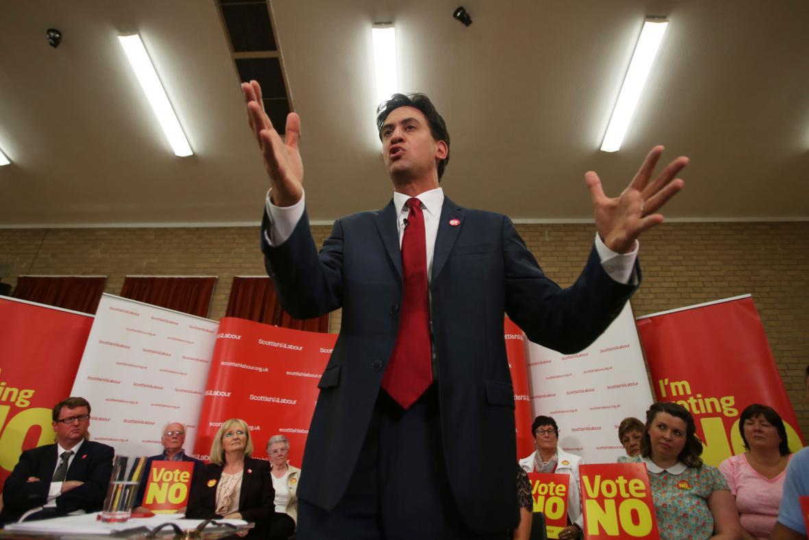 Šéf labouristů Ed Miliband