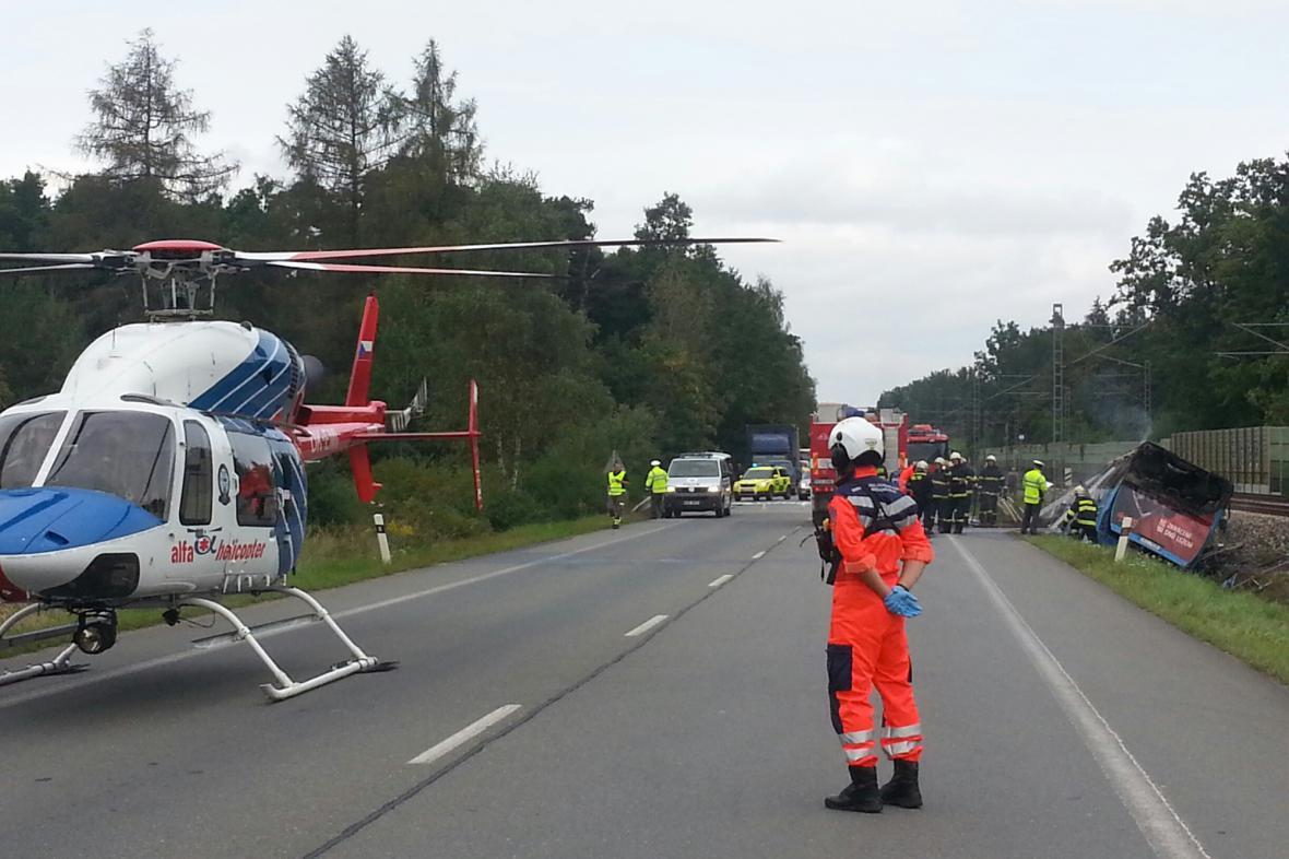 Nehoda autobusu v Plané nad Lužnicí