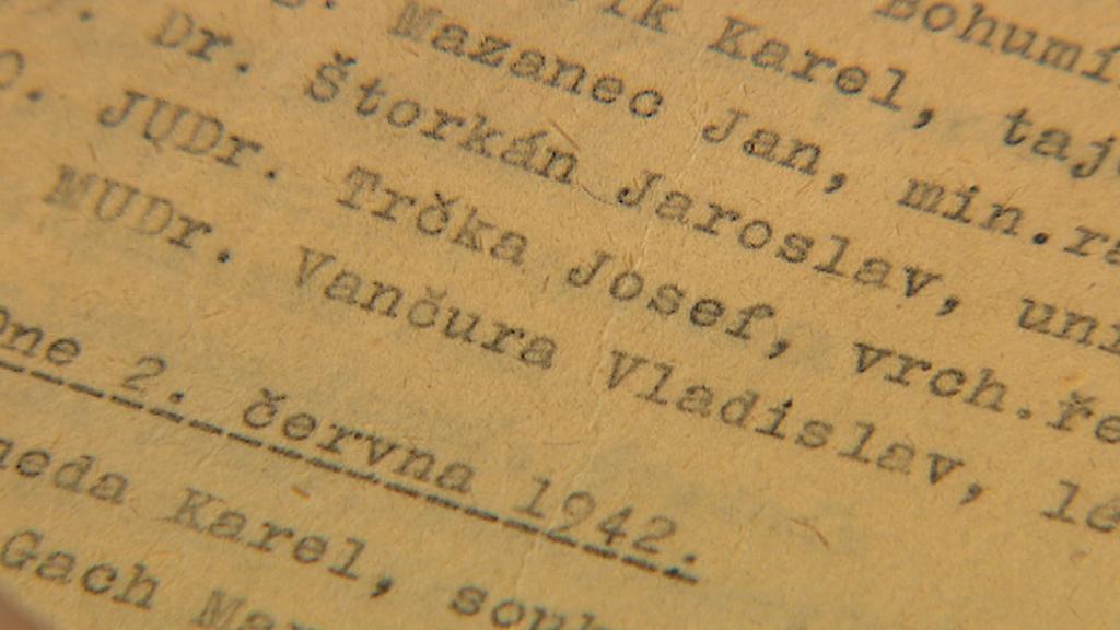 Seznam obětí nacistické perzekuce, který si vedl tehdejší ředitel strašnického krematoria František Suchý