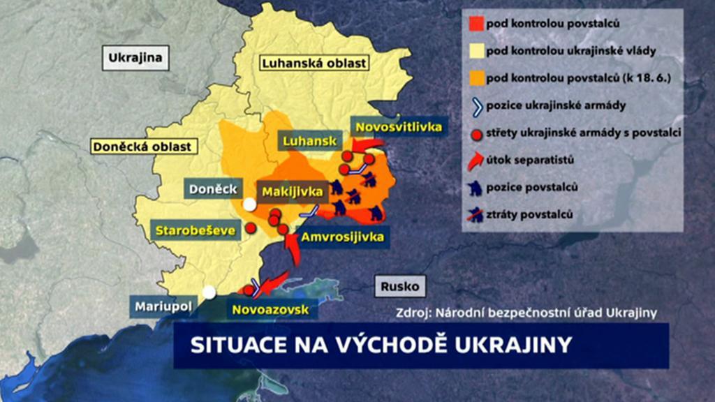 Situace na východě Ukrajiny