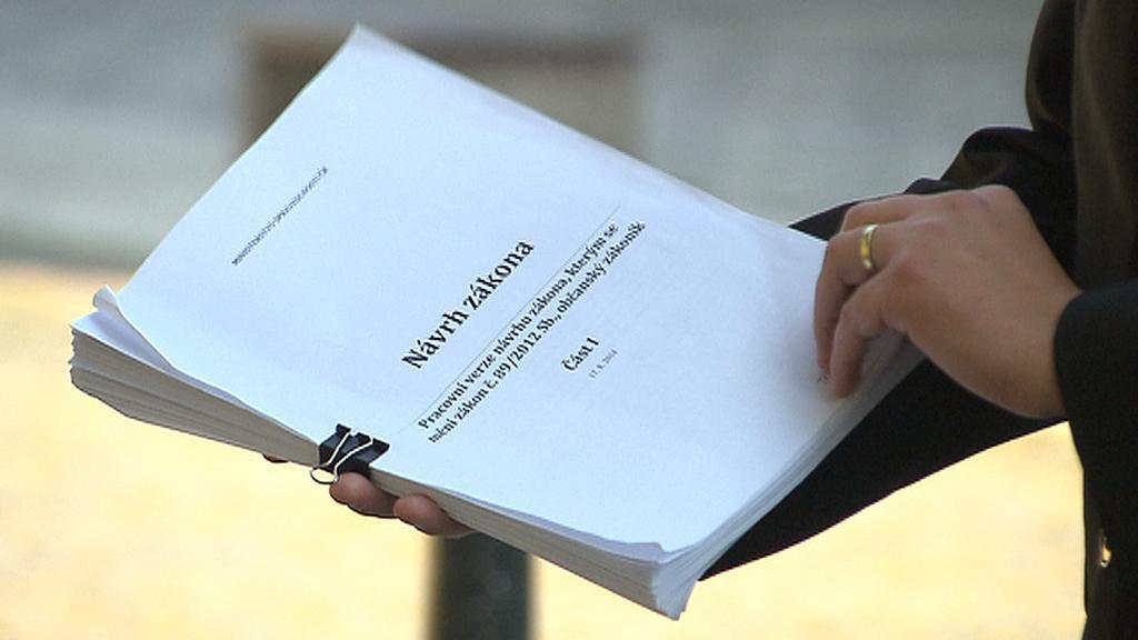 Pracovní verze novely občanského zákoníku