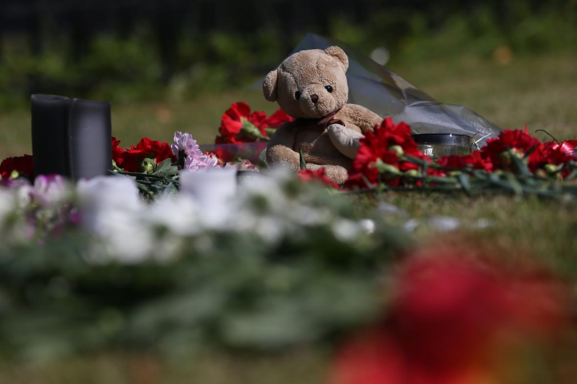 Pieta v Moskvě za oběti katastrofy MH17