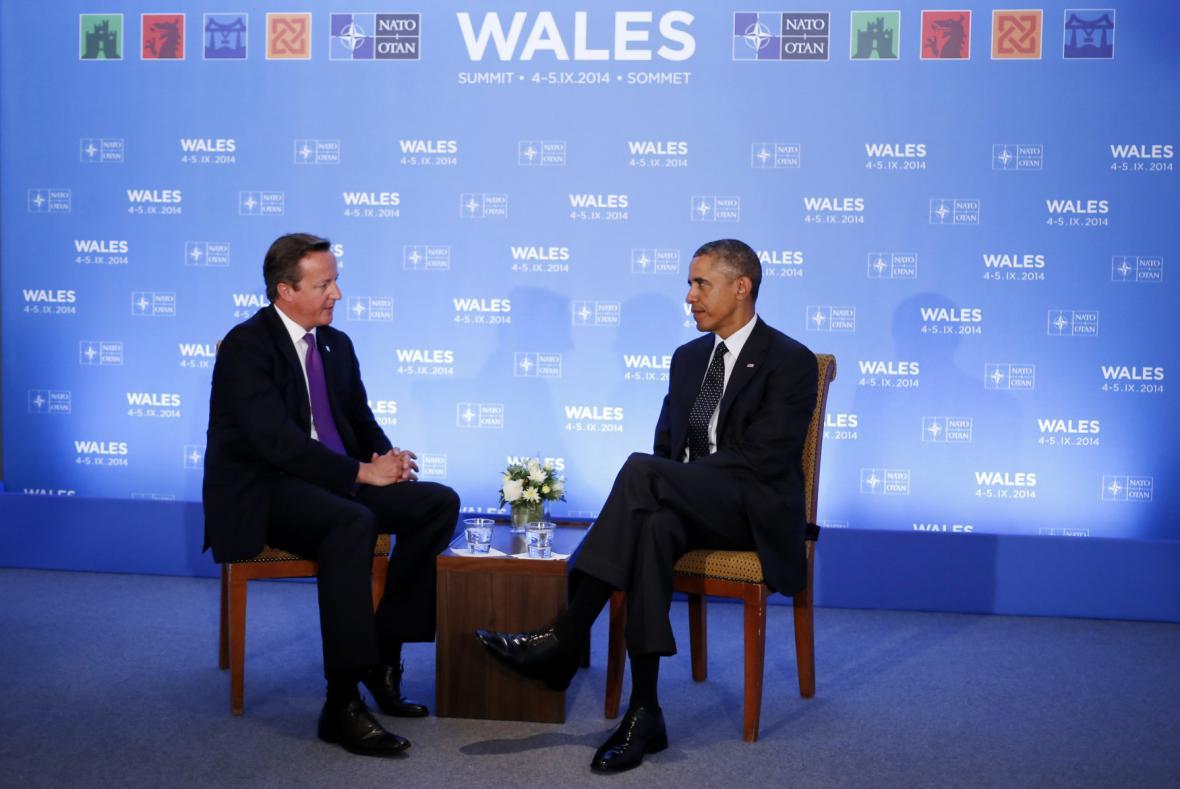 Cameron s Obamou na summitu ve Walesu