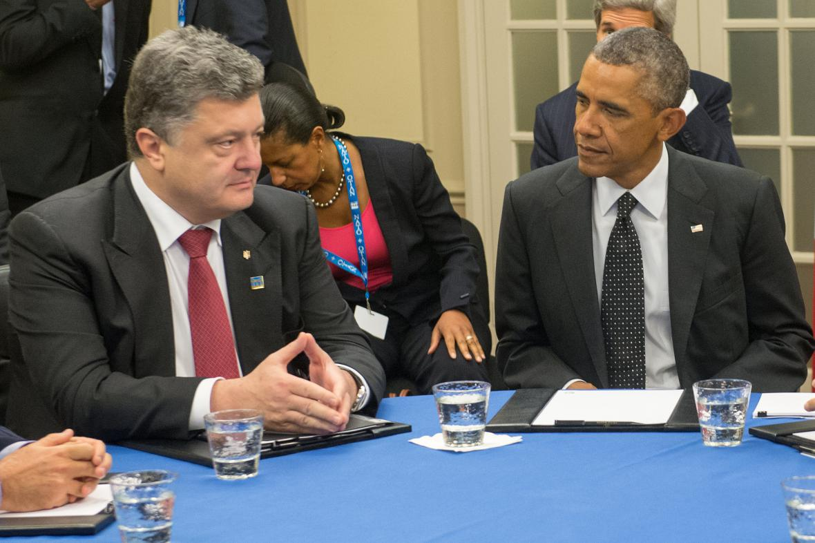 Ukrajinský prezident na summitu ve Walesu