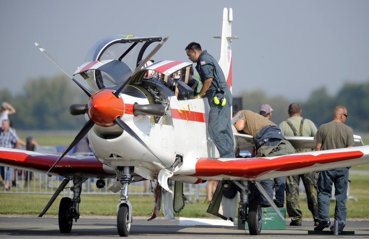 Stroj Pilatus PC-9 z Chorvatska