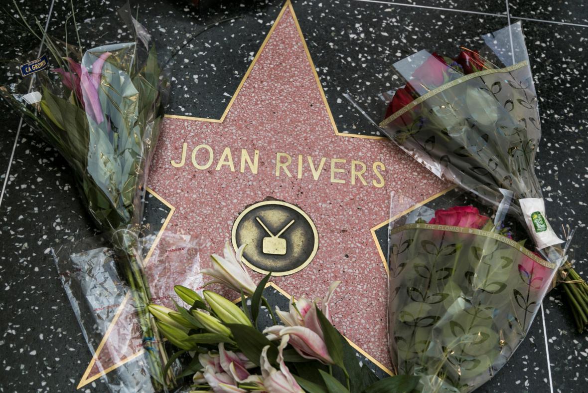 Hvězda Joan Riversové na hollywoodském Chodníku slávy