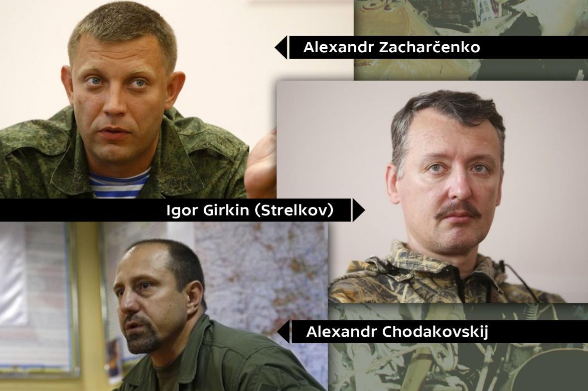Vůdci východoukrajinských povstalců