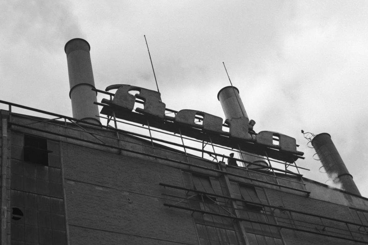 Budova obuvnického závodu Baťa ve Zlíně (1945)