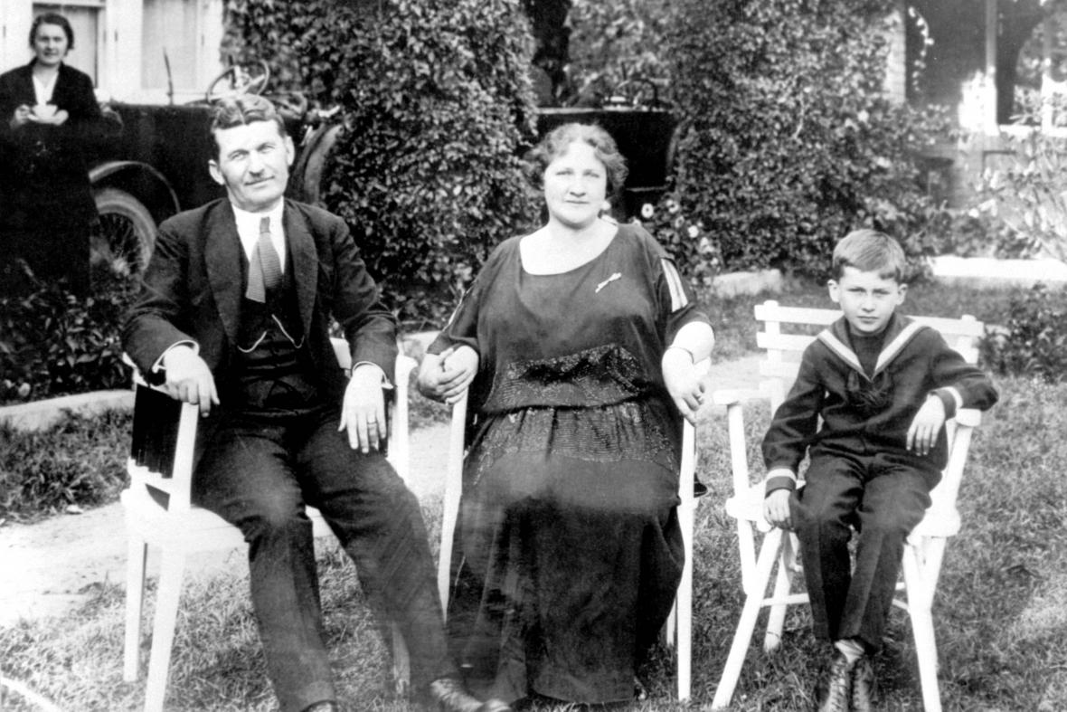 Tomáš Baťa s manželkou a synem Tomášem