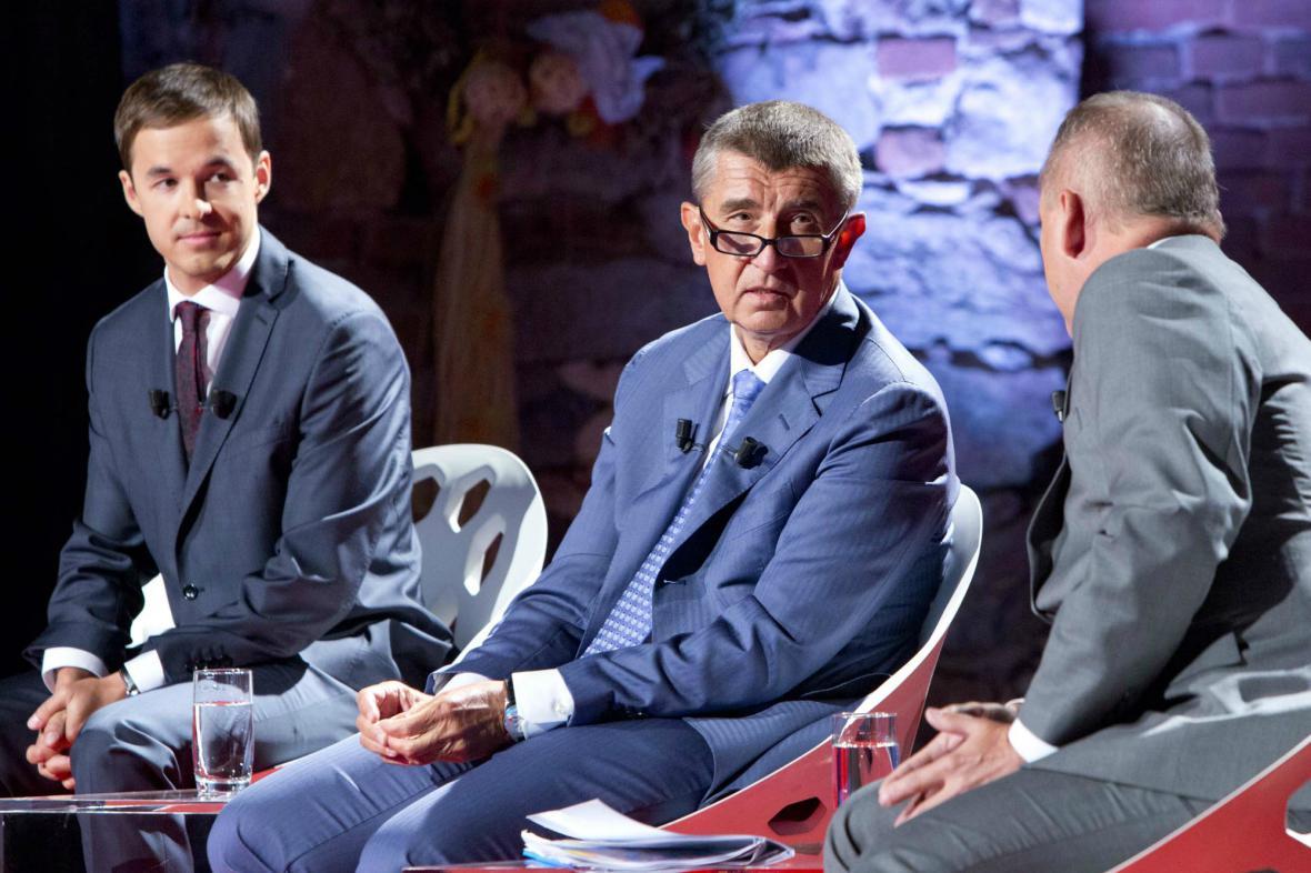 Hlavním hostem předvolební debaty v Řepici byl Andrej Babiš