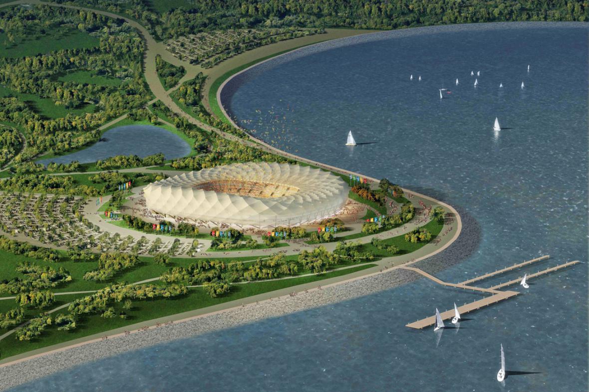 Projekt stadionu pro MS 2018 v Krasnodaru