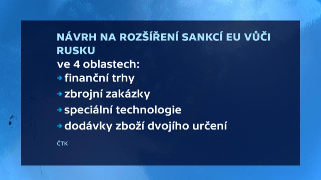 Návrhy na nové sankce EU vůči Rusku