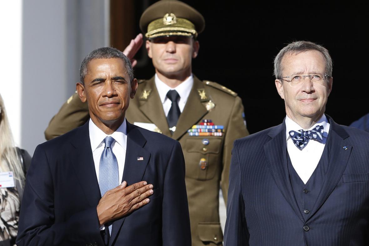 Barack Obama na návštěvě Estonska