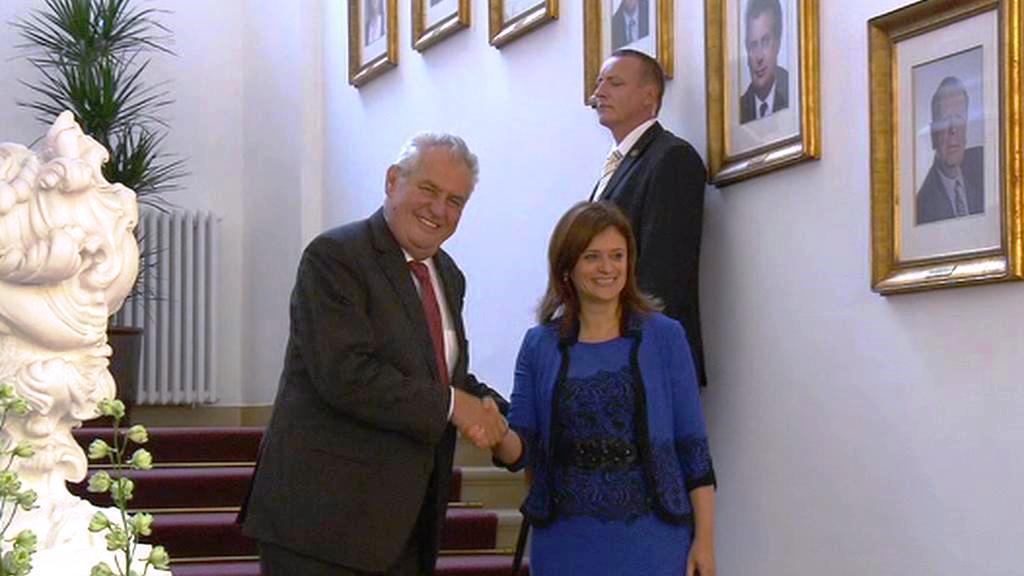 Miloš Zeman a Jaroslava Jermanová