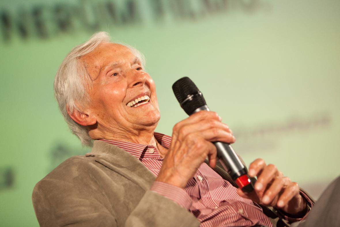Miroslav Zikmund na předpremiéře dokumentu