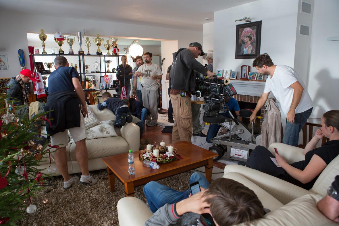 Natáčení filmu Správnej dres