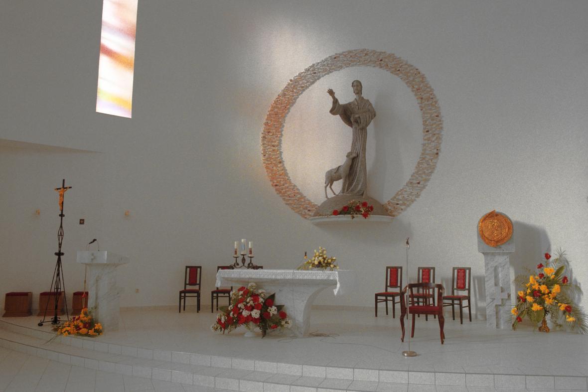 Chrám Krista Dobrého Pastýře v Hněvošicích na Hlučínsku