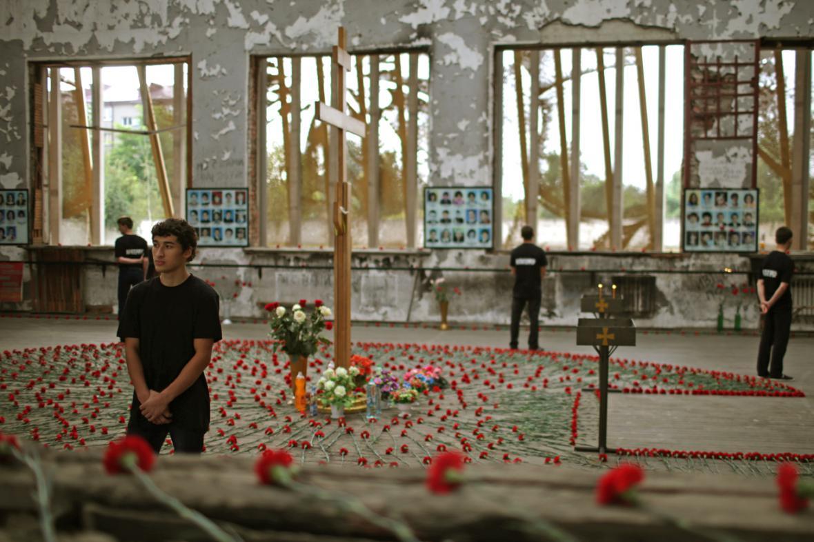 Pietní akce ve škole v Beslanu