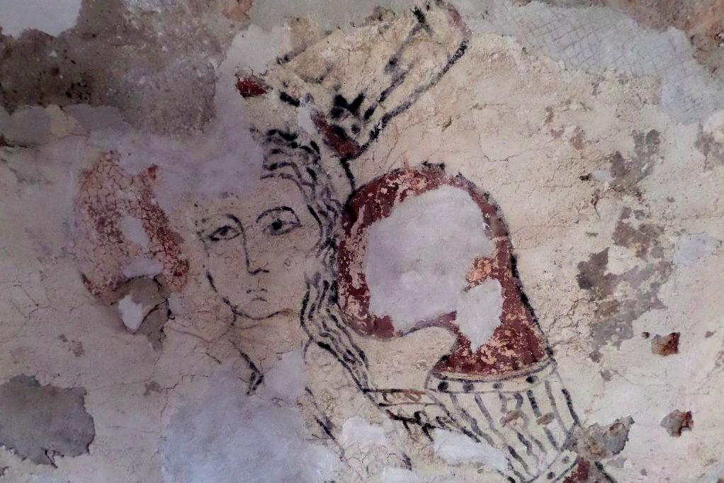 Detail fresky v kostele sv. Havla v Kuřívodech