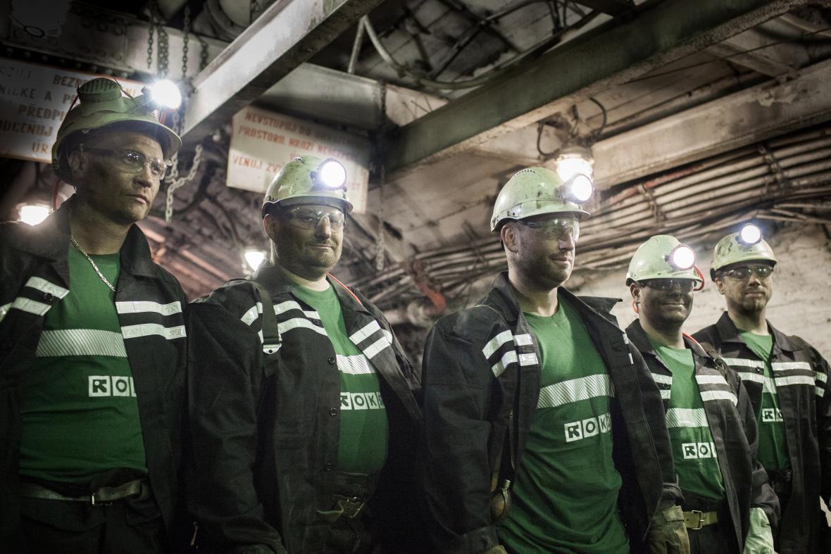 Horníci těžební společnosti OKD