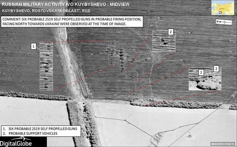 NATO zveřejnilo satelitní snímky dokazující přítomnost ruských jednotek na Ukrajině