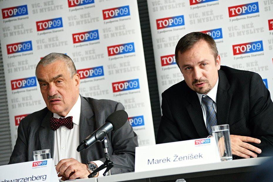 Karel Schwarzenberg a Marek Ženíšek