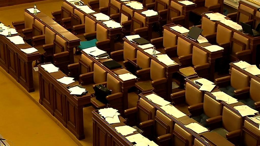 Prázdná Poslanecká sněmovna