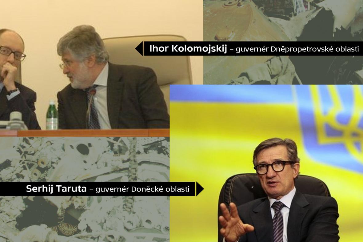 Guvernéři východoukrajinských oblastí