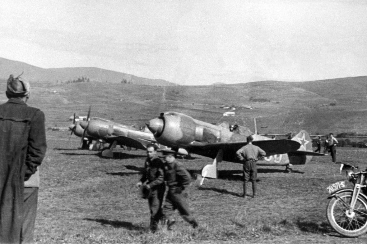 Polní letiště východně od Zvolena (1944)