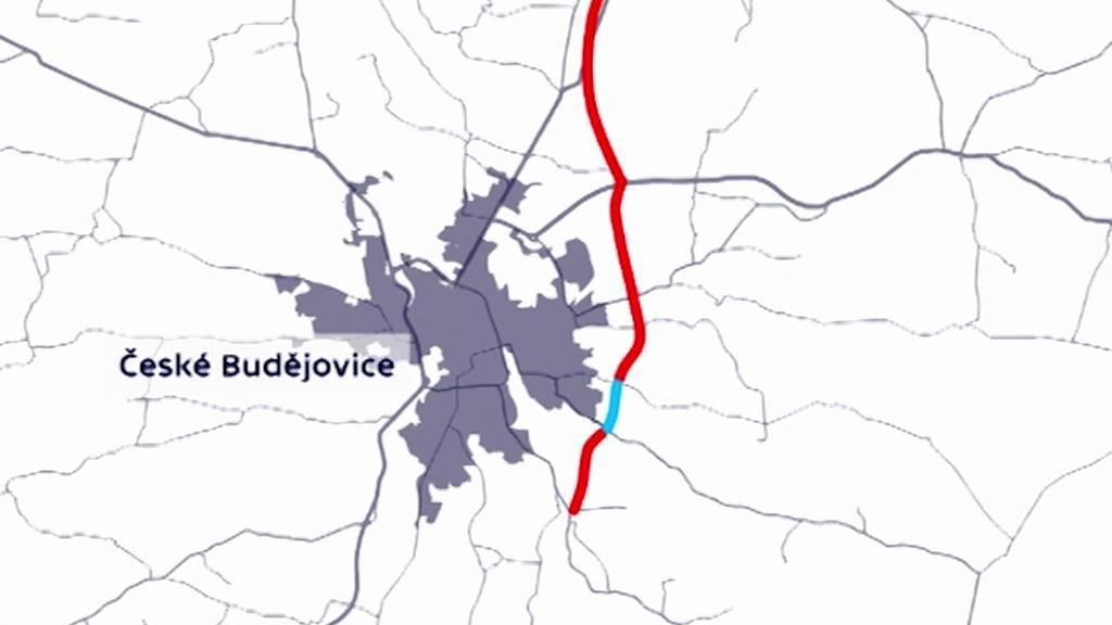 Plánovaná trasa D3 s tunelem