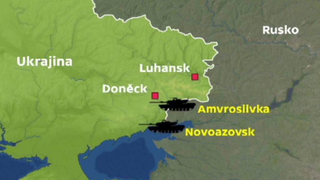 Nová místa bojů poblíž Azovského moře