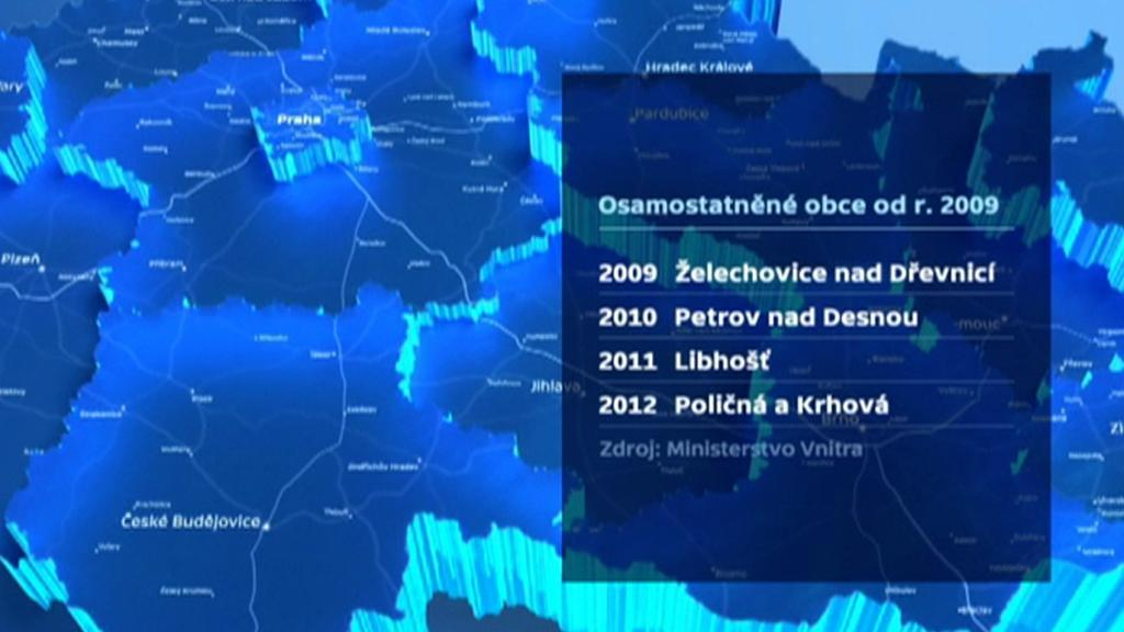 Osamostatněné obce od roku 2009