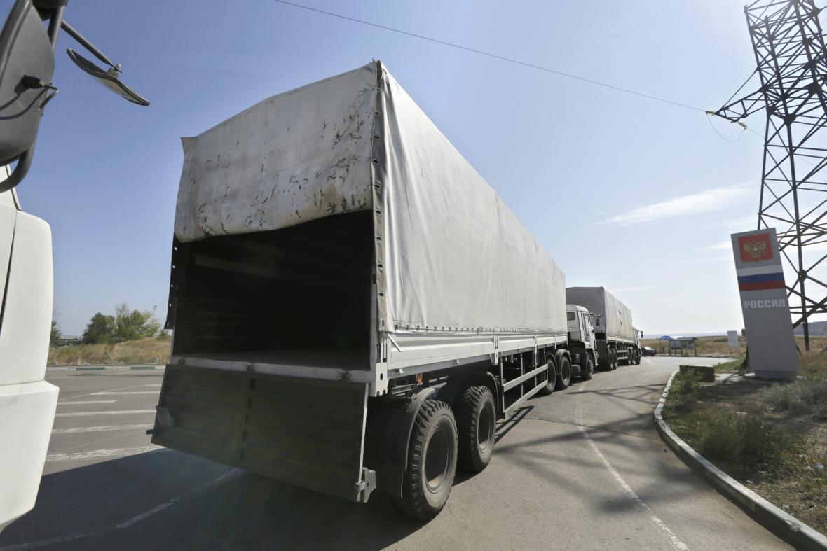 Prázdné kamiony se vydaly na cestu zpět do Ruska