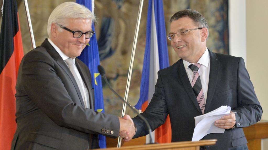 Fran-Walter Steinmeier s Lubomírem Zaorálkem