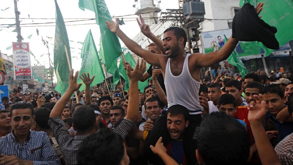 Palestinci slaví dohodnuté příměří