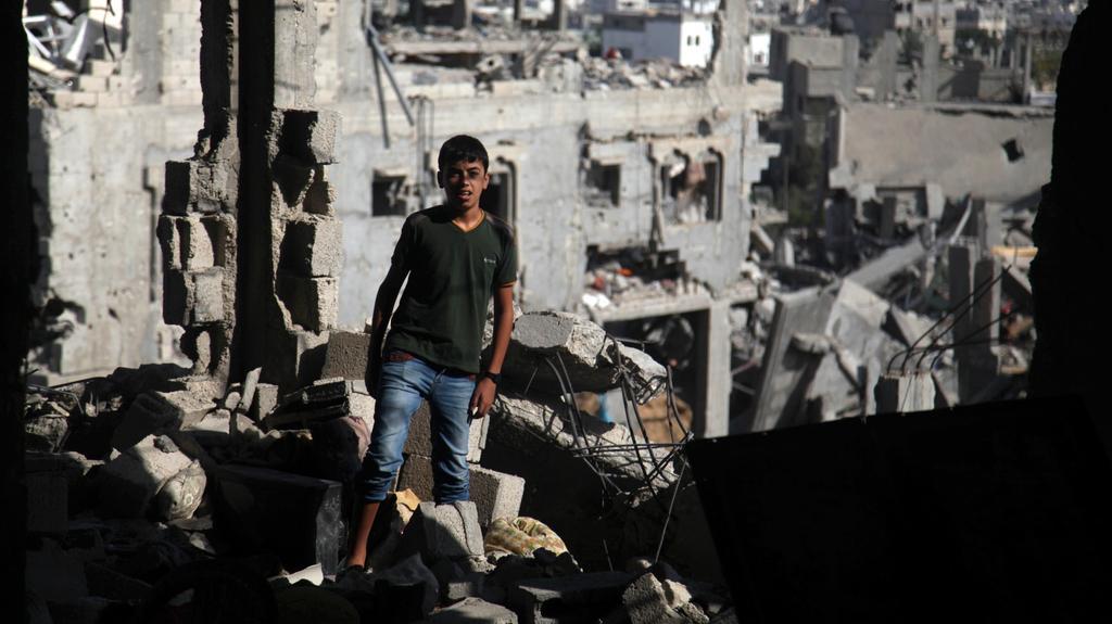 Následky ostřelování v Pásmu Gazy