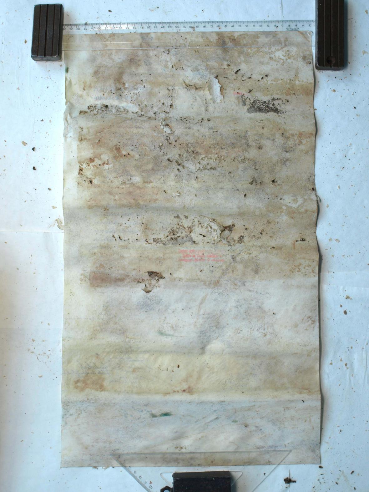 Zakládající listiny pokryla plíseň