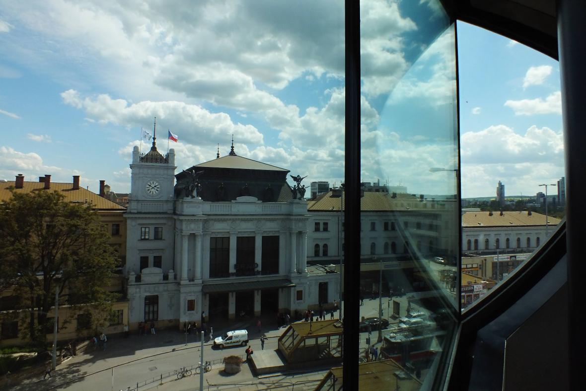 Budova hlavního nádraží v Brně
