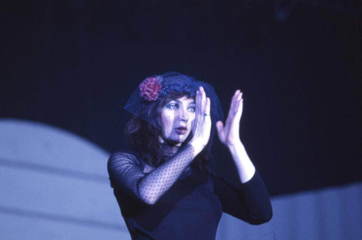 Kate Bush na turné v roce 1979