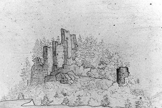 Hrad Zlenice na obrazu Karla Hynka Máchy